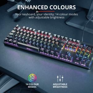 Выпущена механическая игровая клавиатура Trust GXT 863 Mazz