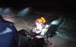 На Волге трое на квадроцикле провалились под лед