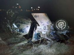 Погиб водитель перевернувшегося 'Форда', трое в больнице