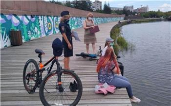 Красноярские полицейские прогнали с городских водоемов несколько десятков подростков