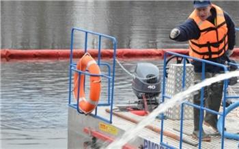 В Красноярске возбудили уголовное дело по факту разлива дизтоплива в Ангару