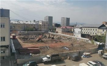 В Красноярске снова ищут строителей для парковки у «Кванта»