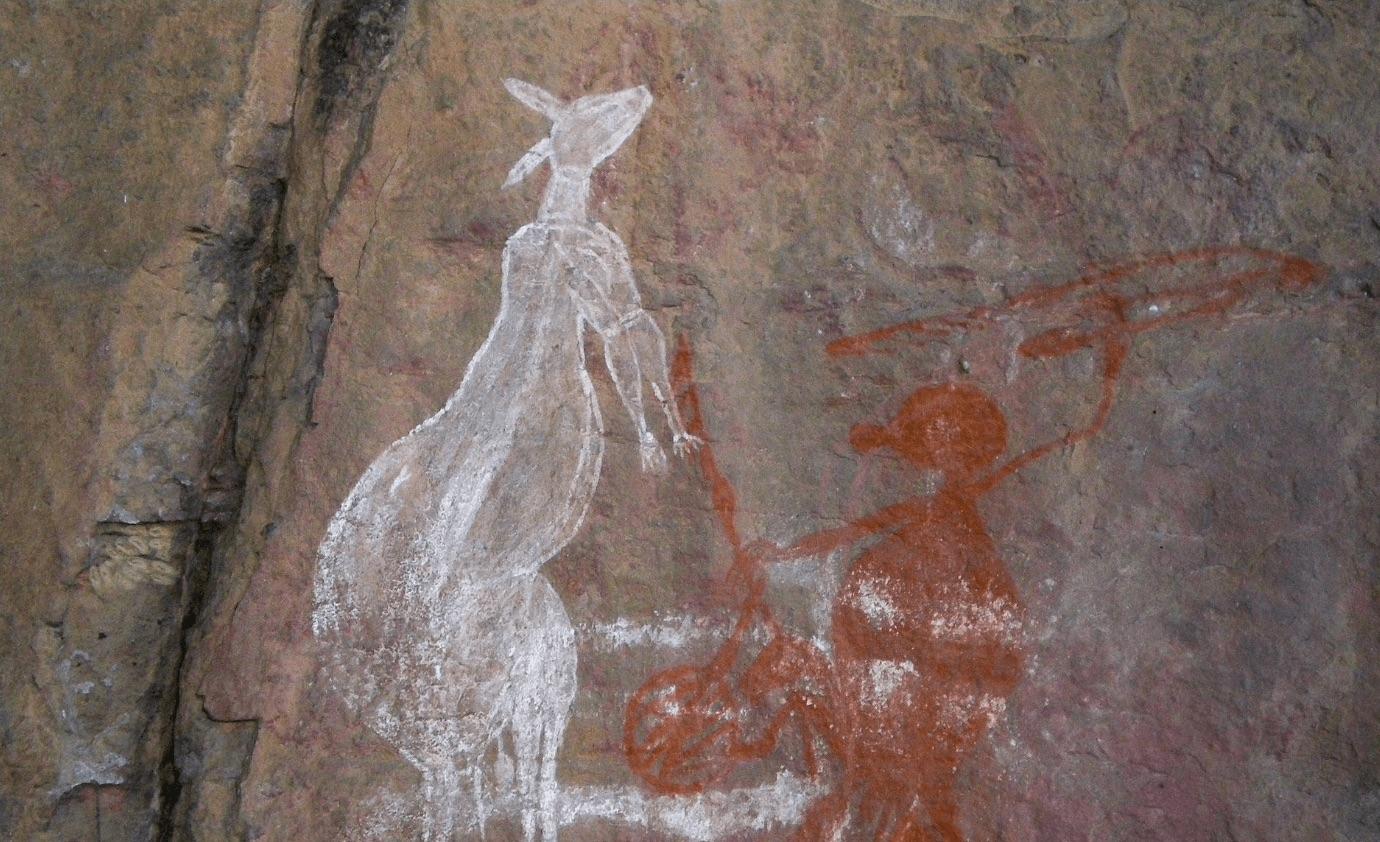 В Австралии нашли древнейший наскальный рисунок кенгуру