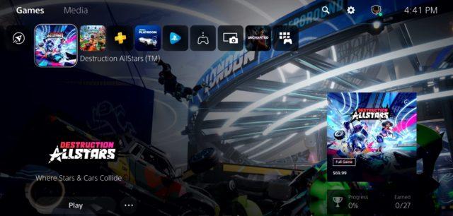 Sony показала интерфейс PlayStation 5 и новые фишки