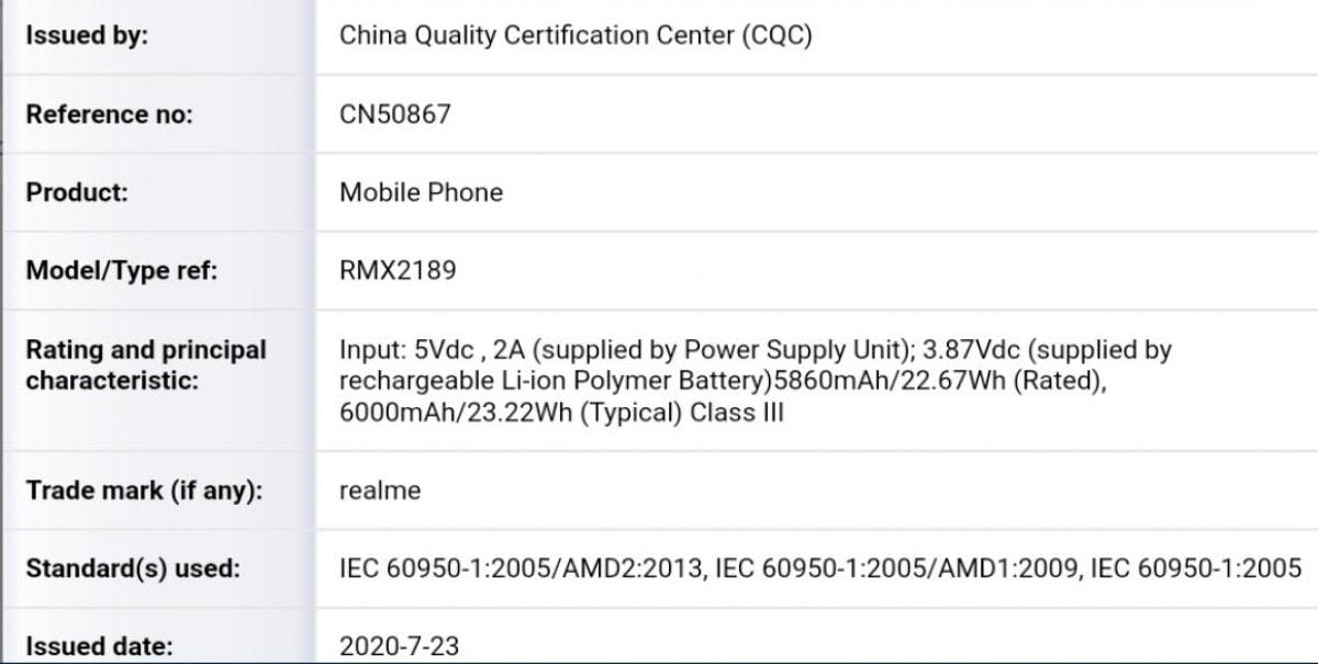 Realme C12 с батареей 6000 мАч получил несколько сертификатов
