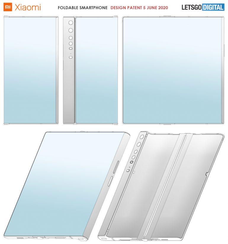 Xiaomi запатентовала смартфон, похожий на Huawei Mate Xs