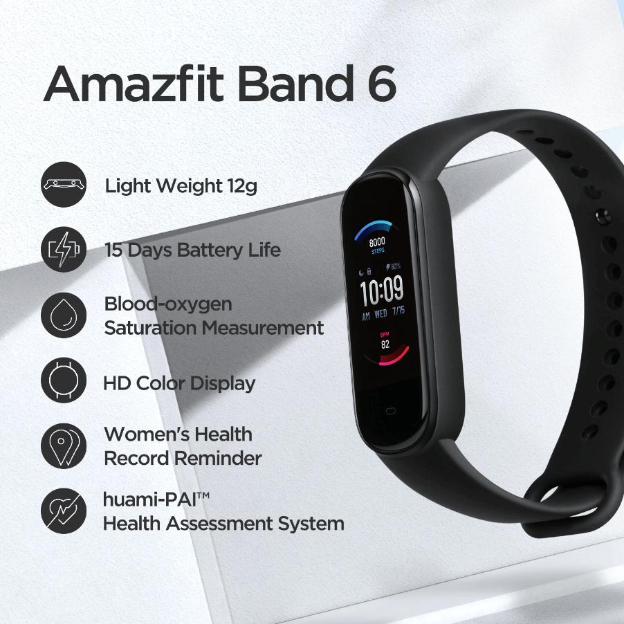 Раскрыты подробные характеристики смарт-браслета Amazfit Band 6