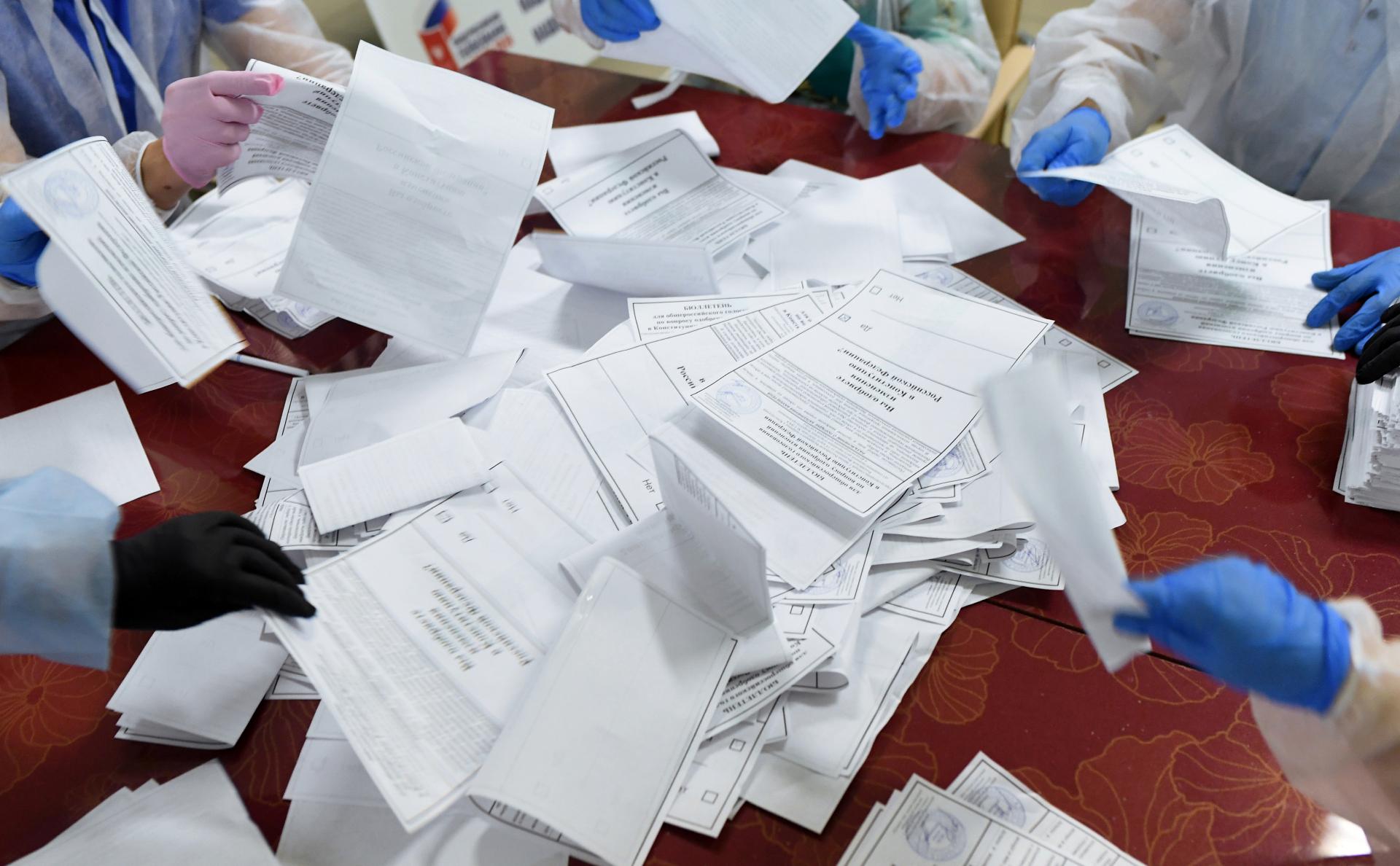 ЦИК обработал 95% протоколов на голосовании по поправкам в Конституцию