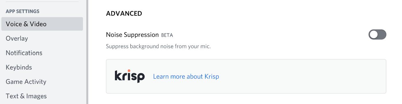 Discord запускает функцию шумоподавления на базе Krisp.ai