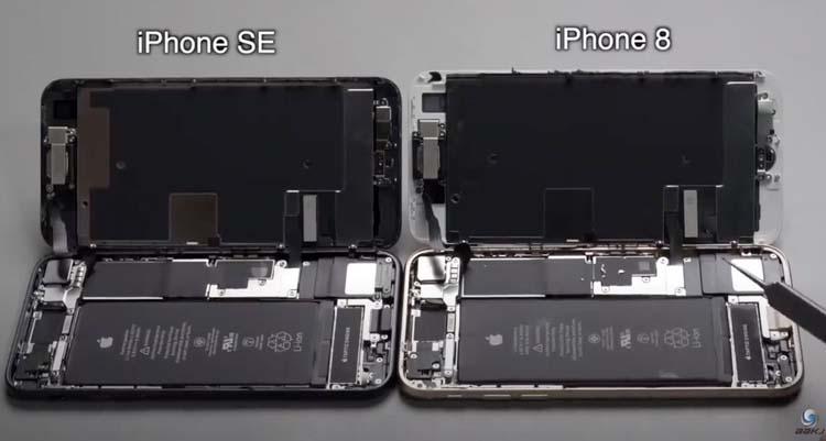 Видео разборки подтвердило сходство обновлённого iPhone SE с iPhone 8