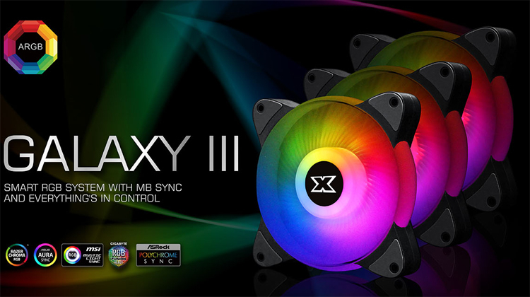 Вентилятор охлаждения Xigmatek Galaxy III Essential получил эффектную подсветку