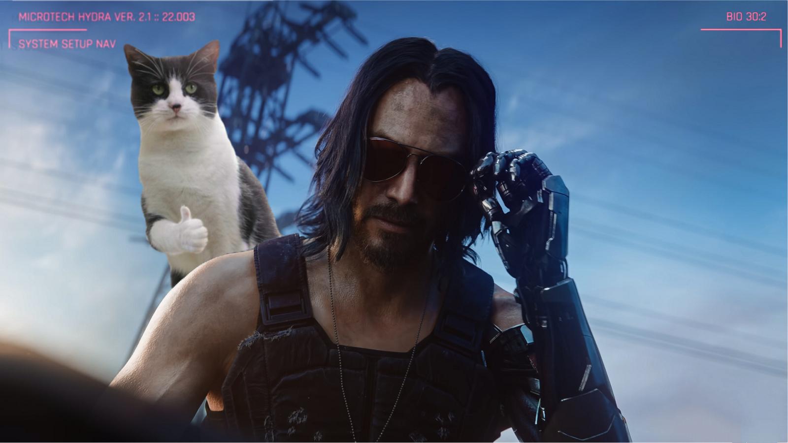Cyberpunk 2077 позволит погладить кошек, собаки под вопросом