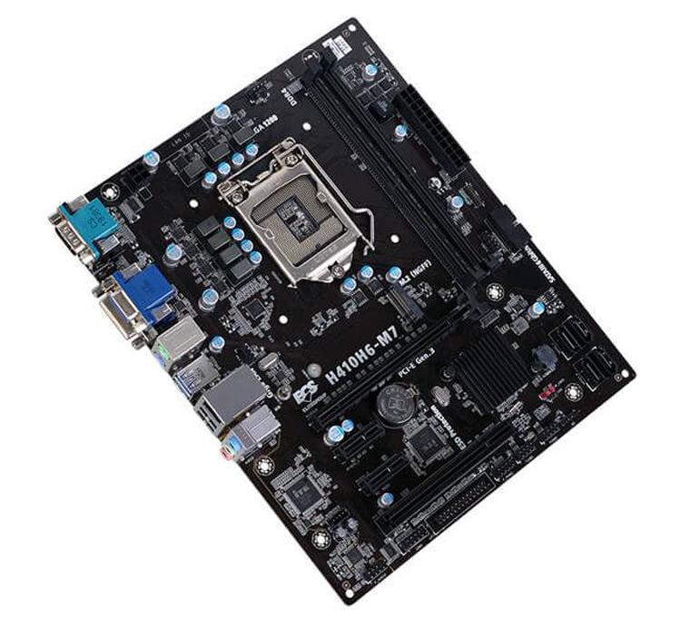 Плата ECS H410H6-M7 поддерживает процессоры Intel в исполнении LGA 1200