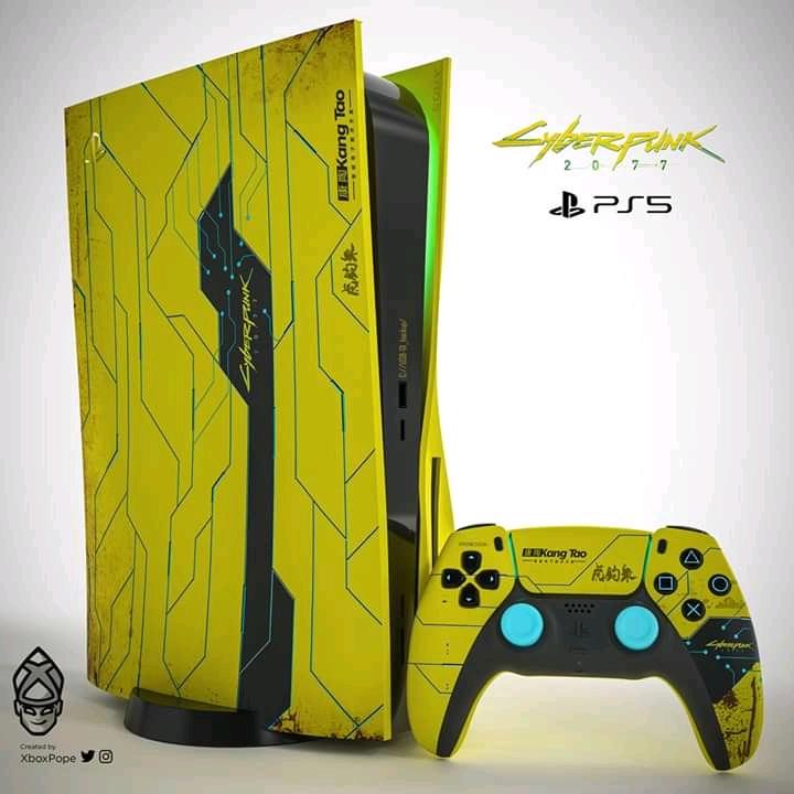 PS5 в стилистике Cyberpunk 2077: энтузиаст представил своё виденье специальной версии консоли