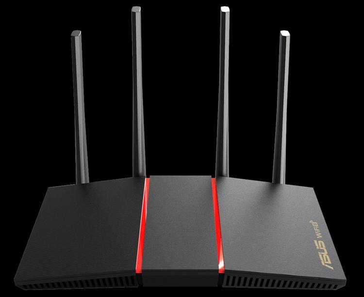Роутер ASUS RT-AX55 обеспечивает скорость передачи данных до 1201 Мбит/с