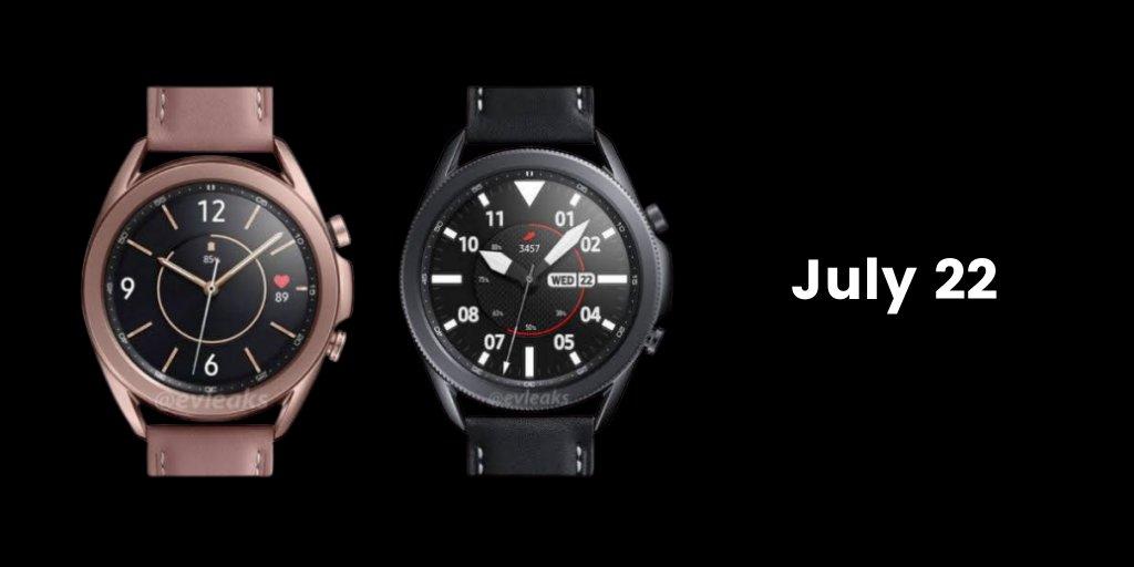 Умные часы Samsung Galaxy Watch 3 могут дебютировать 22 июля