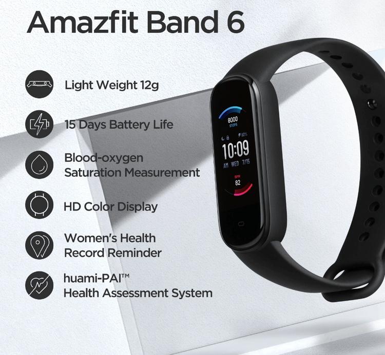 Готовящийся к выходу фитнес-браслет Amazfit Band 6 неожиданно появился на Aliexpress
