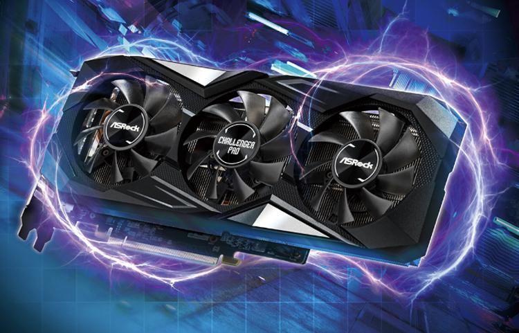 Ускоритель ASRock Radeon RX 5700 XT Challenger Pro 8G OC снабжён затихающей системой охлаждения