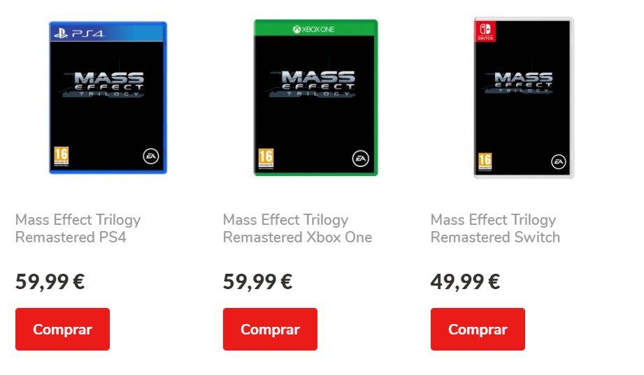 Ремастер трилогии Mass Effect заметили на сайте португальского магазина — утверждалось, что сборник выйдет в октябре