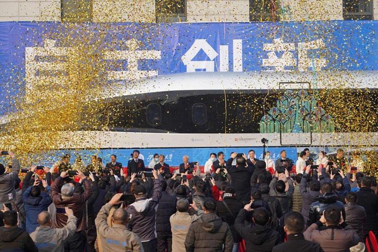 В Китае представлен прототип маглев-поезда с использованием сверхпроводимости и максимальной скоростью 620 км/ч