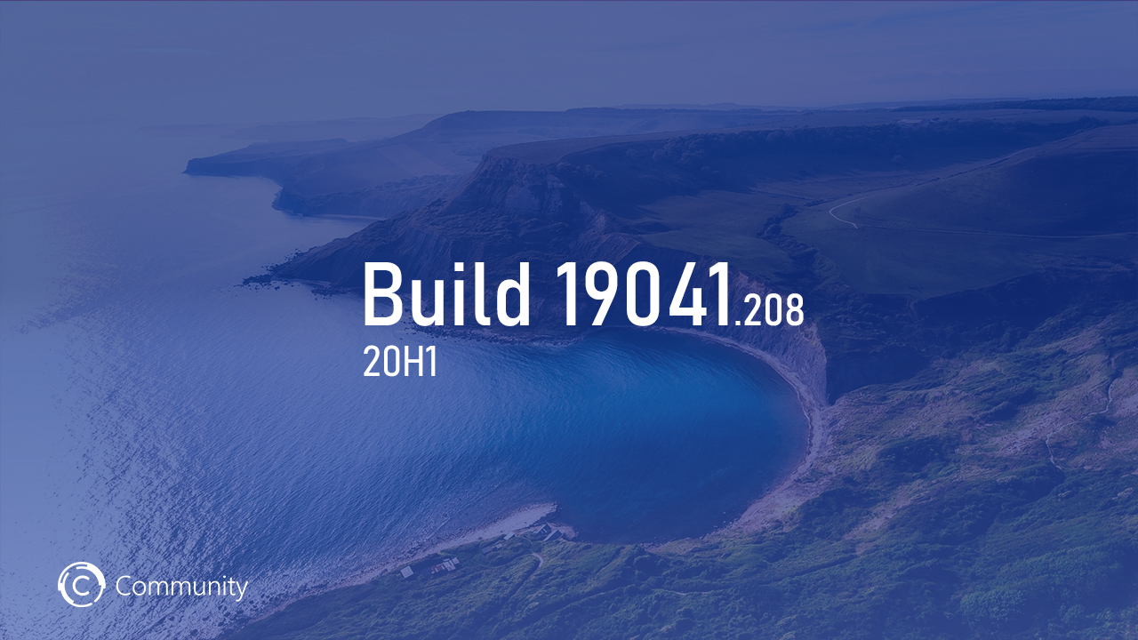 Windows 10 May 2020 Update Build 19041.208 выпущен на канале Release Preview