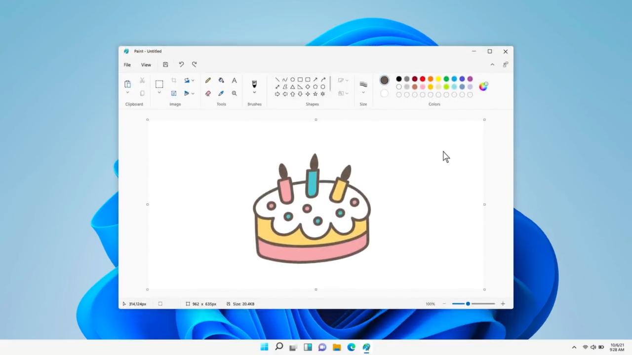 Microsoft продемонстрировала новый дизайн Paint для Windows 11 с поддержкой тёмной темы