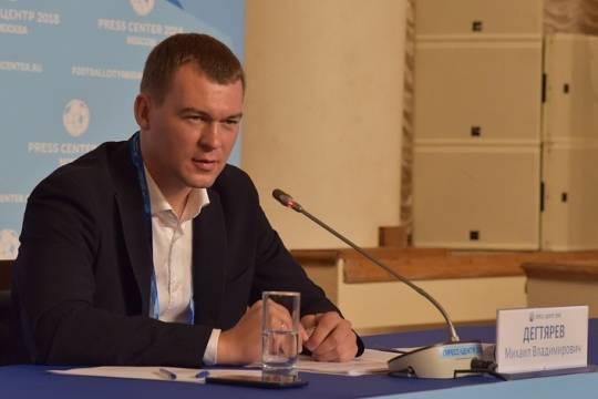 Дегтярёв захотел попасть на приём к Путину после знакомства с Хабаровским краем