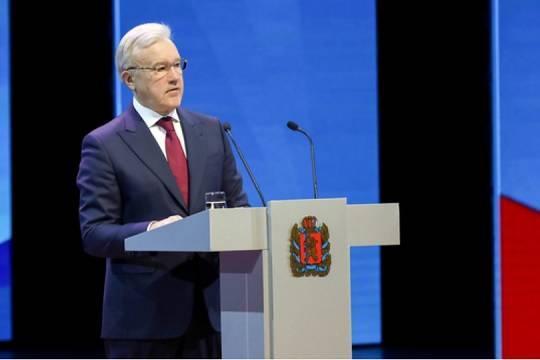 В Красноярске ЛДПР бойкотировала ежегодный отчёт губернатора Александра Усса