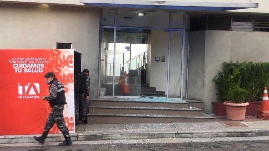Взрыв прогремел в штаб-квартире частного телеканала в Эквадоре
