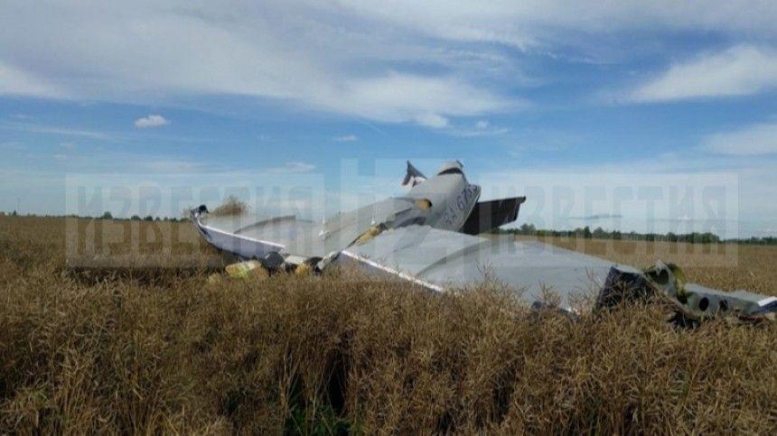 Видео с места жесткой посадки легкомоторного самолета под Калининградом