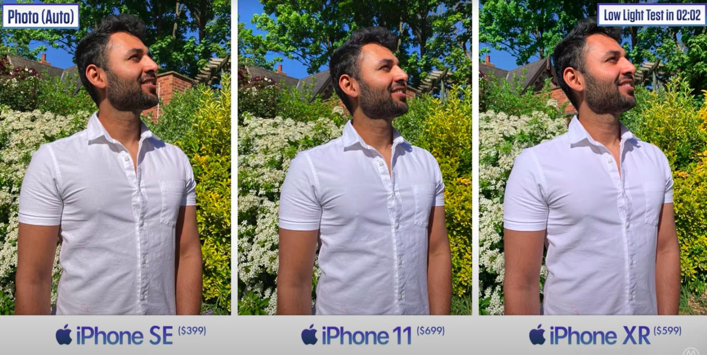 Блогер сравнил камеры нового iPhone SE и iPhone XR с iPhone 11