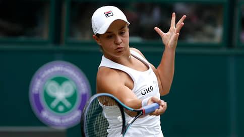 Первую ракетку проверят чешской подачей // В финале Wimbledon Эшли Барти сыграет с Каролиной Плишковой