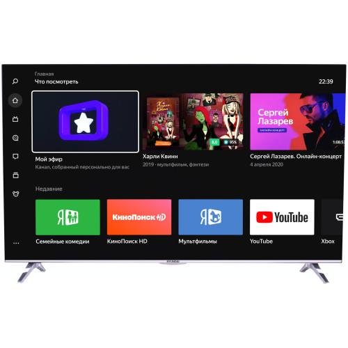 ЖК-телевизор Hyundai H-LED43EU1312: IPS-экран 43', разрешение 4К, поддержка HDR, голосовой поиск, платформа Яндекс.ТВ