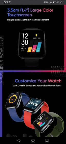 Дешевый клон Apple Watch рассекречен до анонса. Умные часы Realme Watch в деталях