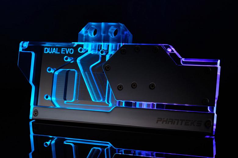 Водоблок Phanteks Glacier G2080 Asus предназначен для видеокарт серии Asus Dual Evo RTX 20