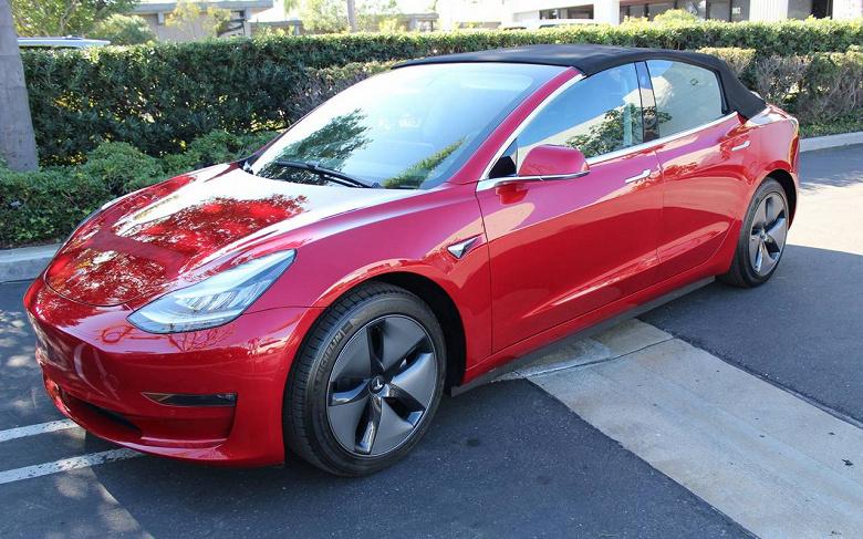 Tesla Model 3 превратили в кабриолет за… две стоимости Tesla Model 3