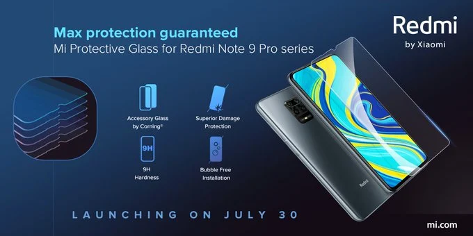 Xiaomi представила сверхпрочное защитное стекло твердостью 9H для Redmi Note 9 Pro и Redmi Note 9 Pro Max
