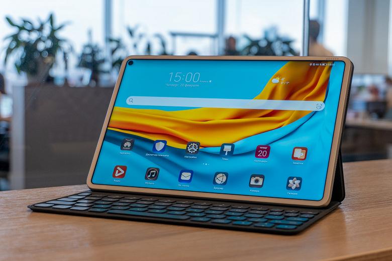 Первый планшет Huawei с HarmonyOS оснащён гигантским экраном