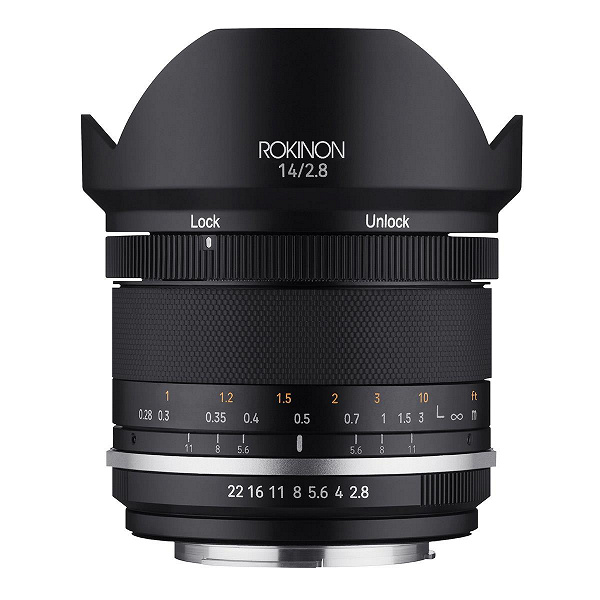 Объектив Rokinon 14mm f/2.8 Series II предложен в шести вариантах