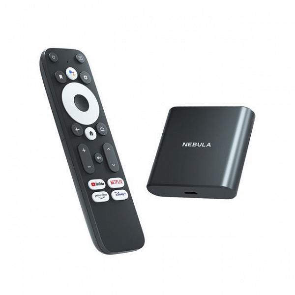 4K, 75 к/с, Dolby Digital Plus, HDR10 и Android TV 10. Представлена крошечная ТВ-приставка Nebula 4K Streaming Dongle