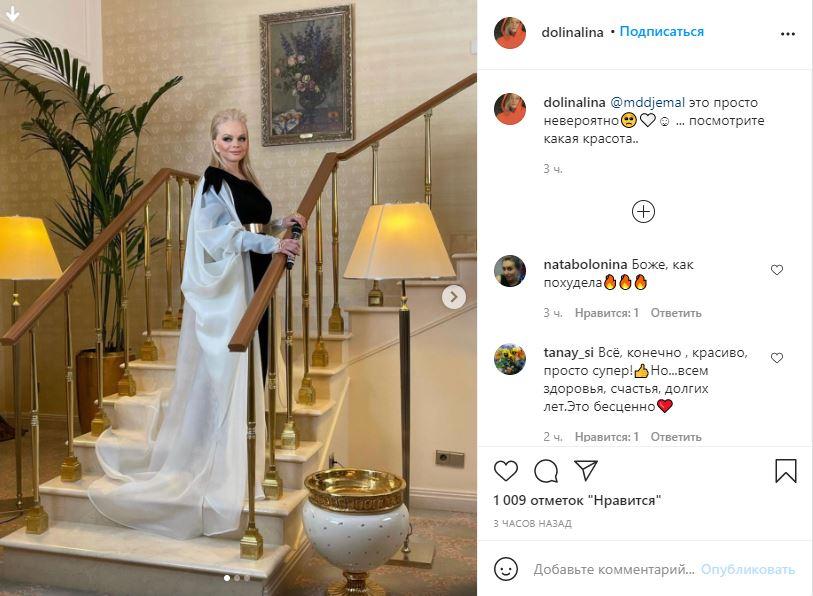 «Просто невероятно»: дочь Долиной показала помолодевшую мать в шикарном наряде