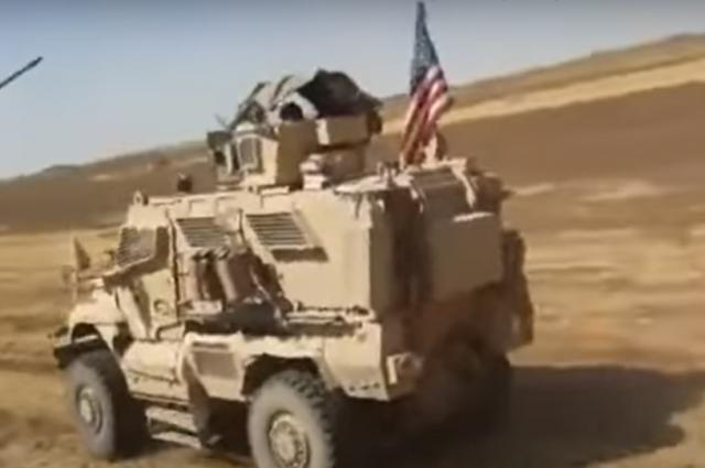 Появилось видео инцидента с военными России и США в Сирии