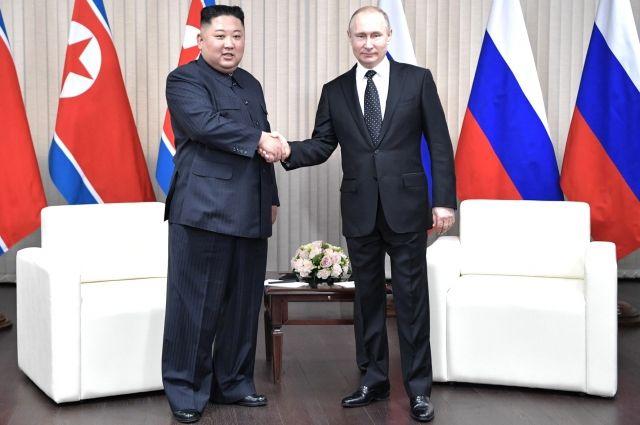 Путин поздравил Ким Чен Ына с 73-й годовщиной основания КНДР