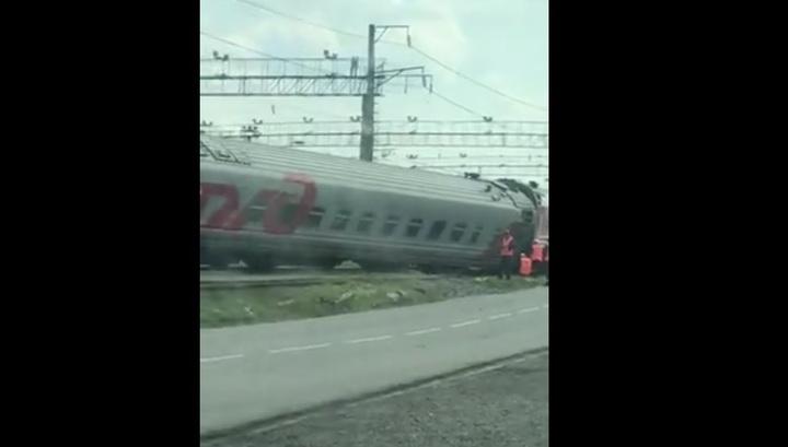 Появилось видео с места ЧП с пассажирским поездом в Старом Осколе