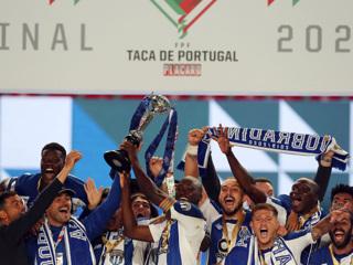 Футболисты 'Порту' в меньшинстве завоевали Кубок Португалии
