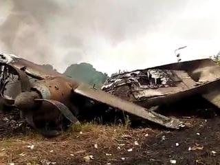 Появилось видео с места крушения самолета Ан-26, перевозившего крупную партию денег