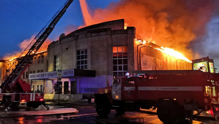 В Гусь-Хрустальном загорелось здание дома культуры