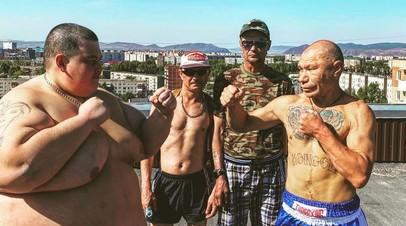 В сети появилось видео боя блогера Олега Монгола с 240-килограммовым соперником