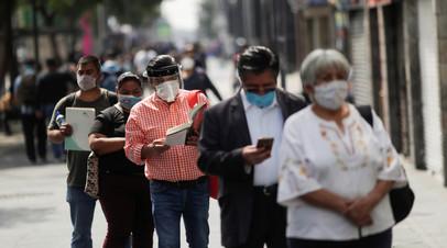 Число случаев коронавируса в Мексике превысило 220 тысяч