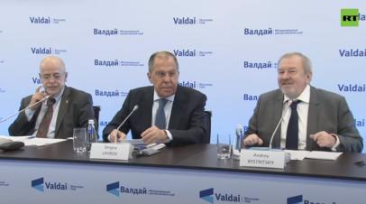Лавров участвует в специальной сессии Валдайского клуба по Ближнему Востоку